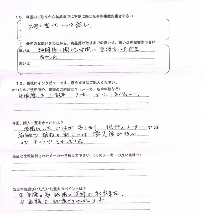 アンケート:香川県60代(初めての白髪50%)