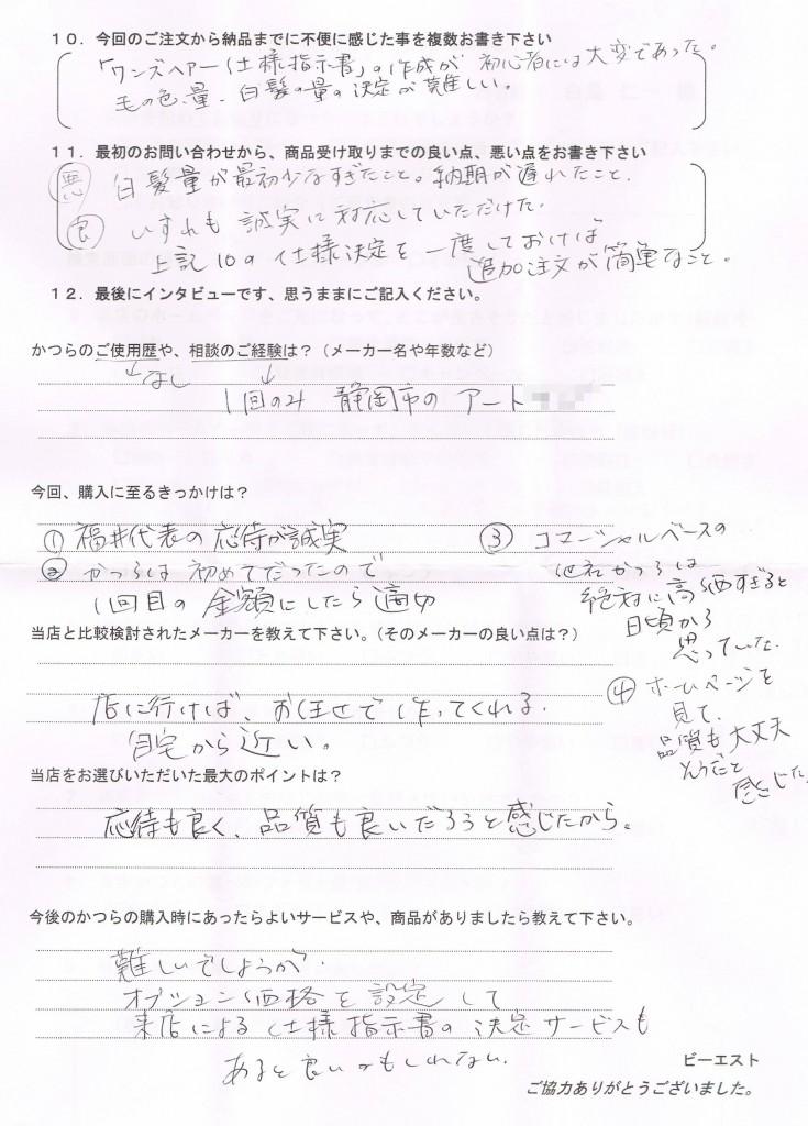 かつらデビュー実況生中継!