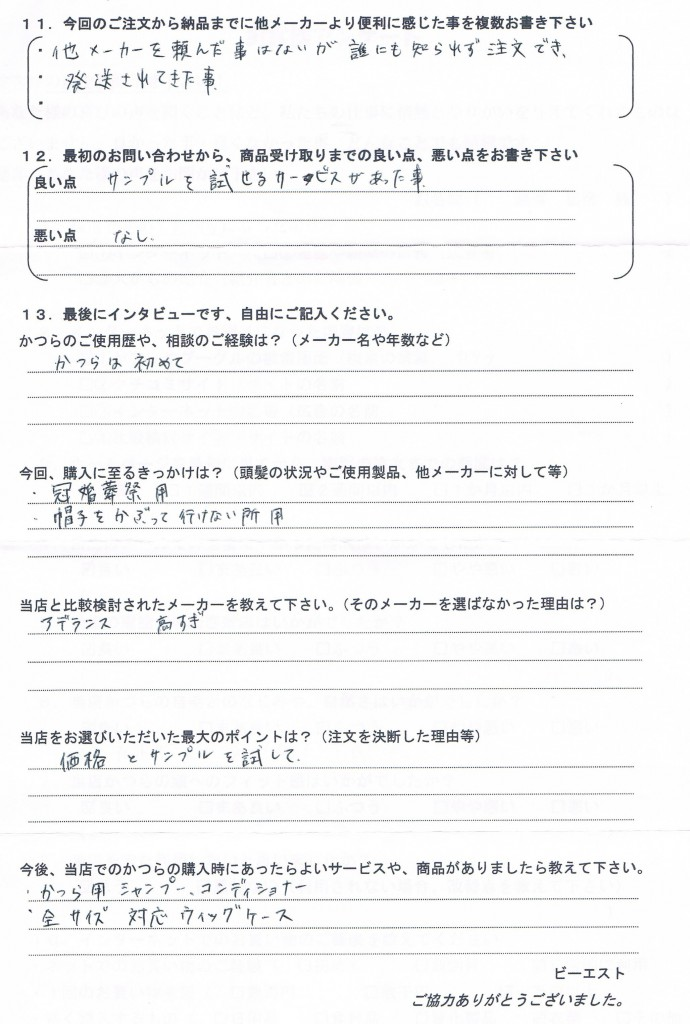 愛知県30代(冠婚葬祭用・少し長め)
