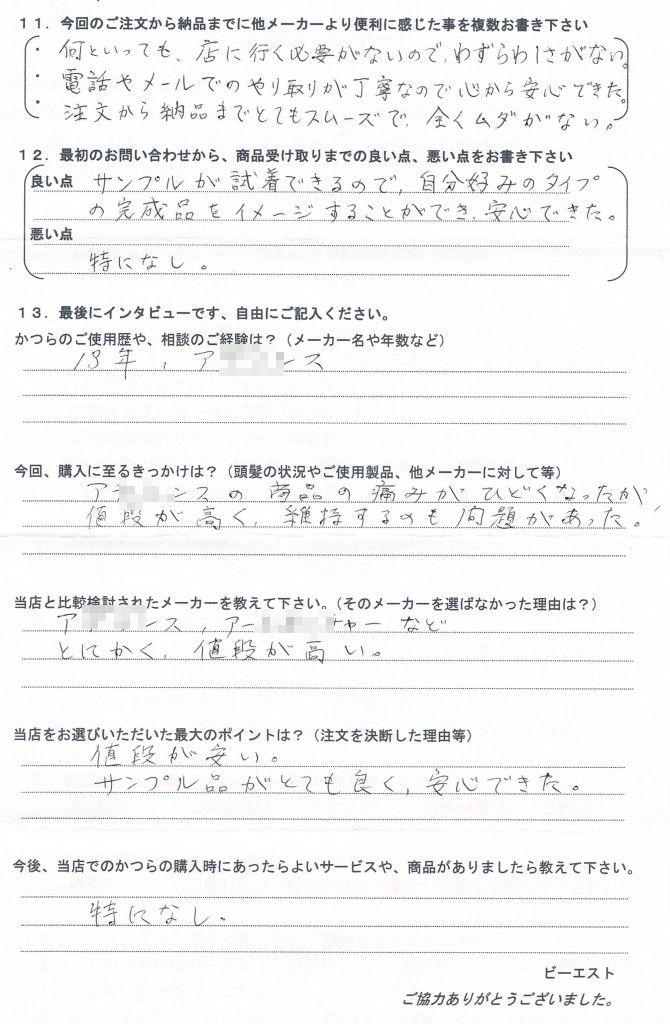 長崎県40代(かつら大手70万)