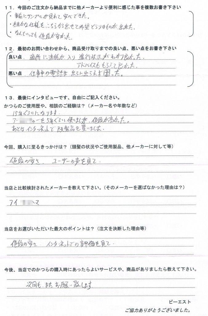 福井県50代(かつら15年大手~通販まで)