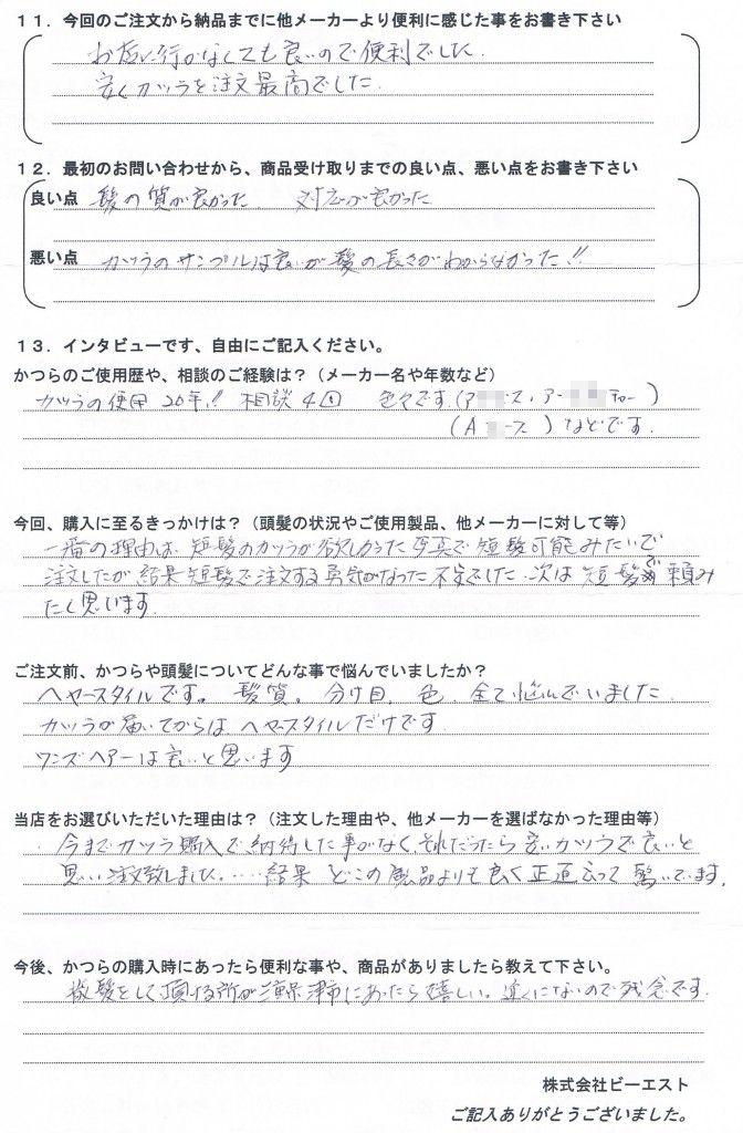 三重県60代(かつら20年、悩み多し)