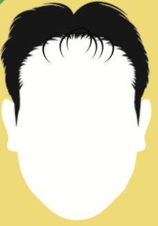 前髪ハラリのオールバック