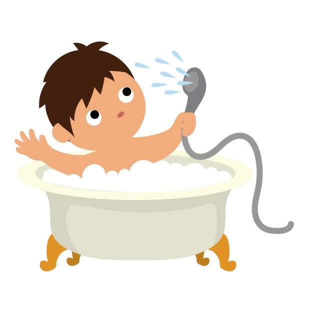 かつらを着けてシャワーや入浴