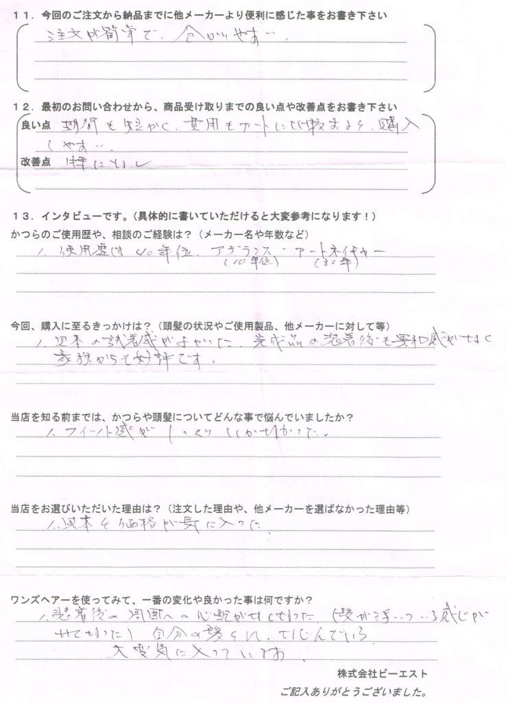 かつらが40年超しっくりこない!?(宮崎県)