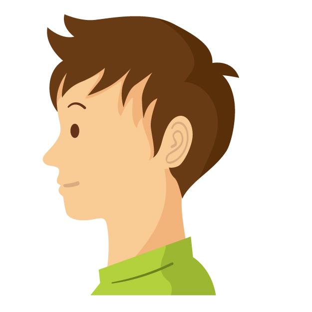 前髪下ろして自然な髪型